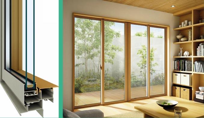 アルミ樹脂複合窓+Low-Eガラス